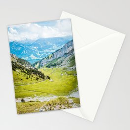 View From Swiss Alps | Switzerland Nature Landscape Mountain Photography Stationery Cards
