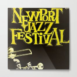 1960 Newport Jazz Festival Vintage Advertisement Poster Newport, Rhode Island Metal Print