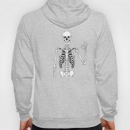 Okay Skeleton Close up Hoody