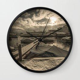 Cold Boats Wall Clock
