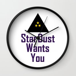 StarDust Wants You Wall Clock