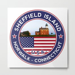 Sheffield Island, Norwalk, Connecticut sticker, t shirt, poster Metal Print
