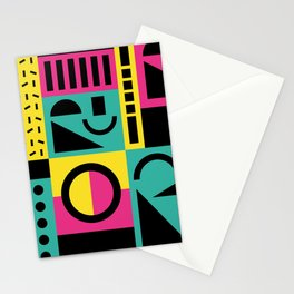 Neo Memphis Pattern 2 - Abstract Geometric / 80s-90s Retro Stationery Cards