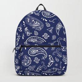Blue Bandana Backpack