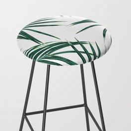 Green Palm Leaves Dream #2 #tropical #decor #art #society6 Bar Stool