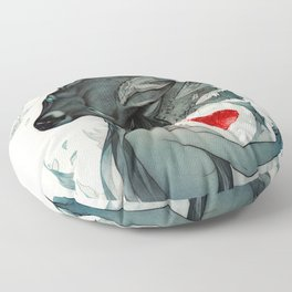 Mending a Broken Heart Floor Pillow