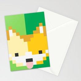Shiba pixel Stationery Cards