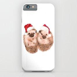 Christmas Twin Hedgehog iPhone Case