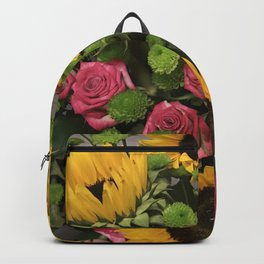 Sunflowers and Little Red Roses Backpack