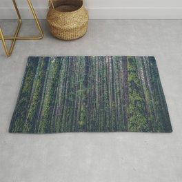 forest landscape photography tree background - trees vintage style Rug