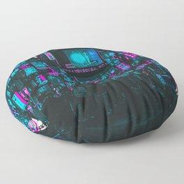 Cyberpunk City Floor Pillow
