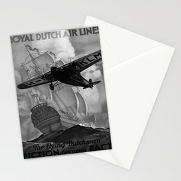 retro monochrome The Flying Dutchman Stationery Cards