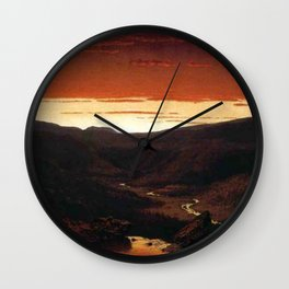 A Twilight in the Catskill Mountains by Sanford Robinson Gifford Wall Clock