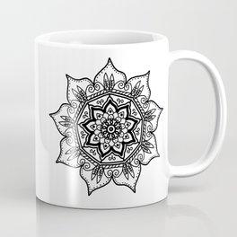 BW Floral Mandala Coffee Mug