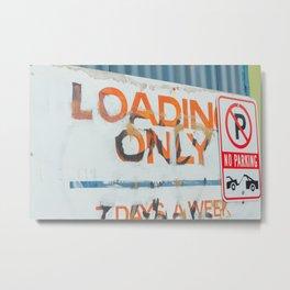 Loading Only - Seattle, WA Metal Print