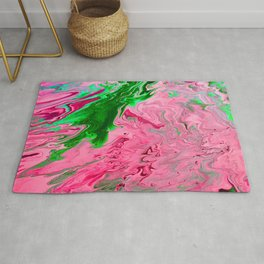 green and pink marble Rug
