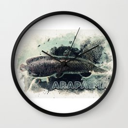 ARAPAIMA River Monster for the true EXTREME ANGLERS / Pirarucu / Paiche Wall Clock