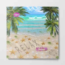 Relax on the Beach Metal Print