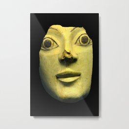 Ancient Greek Pottery Mask Metal Print