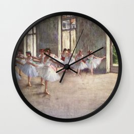 Ballet Rehearsal 1873 By Edgar Degas | Reproduction | Famous French Painter Wall Clock