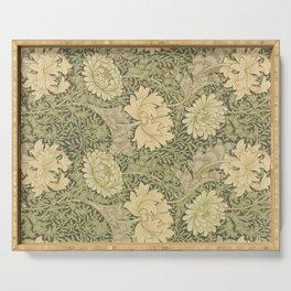 Chrysanthemum by William Morris 1877 Antique Vintage Pattern CC0 Spring Summer Serving Tray