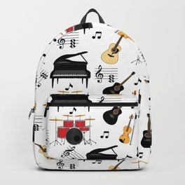 Musical Instruments Neck Gator Piano Drums Guitar Backpack