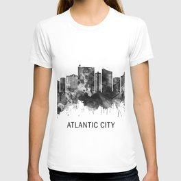 Atlantic City New Jersey Skyline BW T-shirt