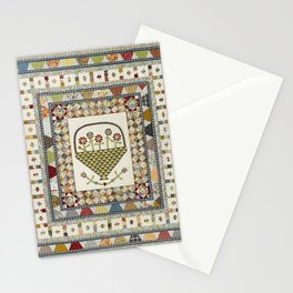 Pennsylvania Dutch Medallion Quilt Stationery Cards