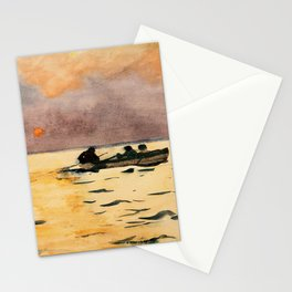 Winslow Homer1 - Rowing Home - Digital Remastered Edition Stationery Cards