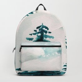 pine trees on the hill Backpack