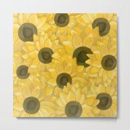 Kansas Sunflowers Metal Print
