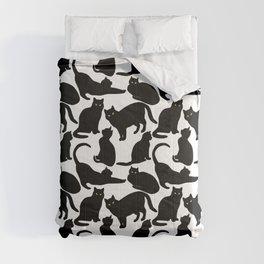 Black Cats Comforters