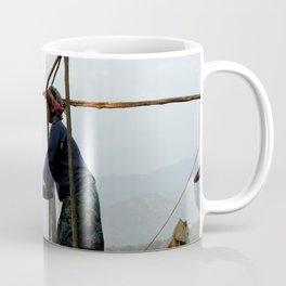 Akha Gril Milling Rice Portrait Coffee Mug