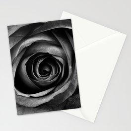 Black Rose Flower Floral Decorative Vintage Stationery Cards