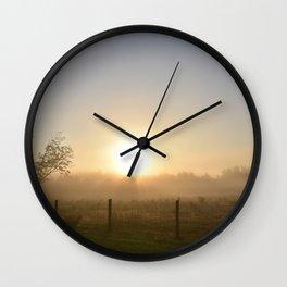Foggy Morning 3 Wall Clock