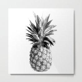 Pineapple Engraving Metal Print