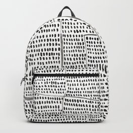 Categorize Print in Black and White Backpack
