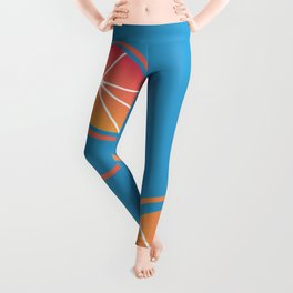 Neon Grapefruit Pattern 2 Leggings