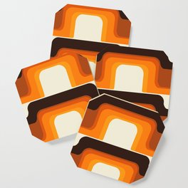 Mid-Century Modern Meets 1970s Orange Coaster