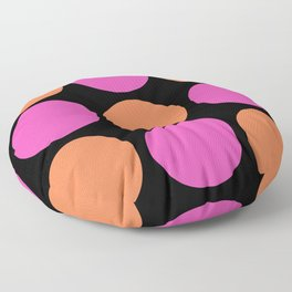 Mid Century Modern Polka Dot Pattern 9 Pink and Orange 2 Floor Pillow