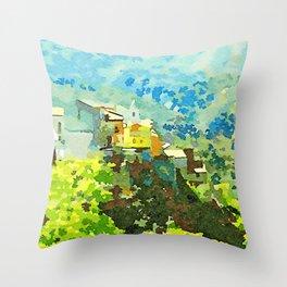Tortora view Throw Pillow