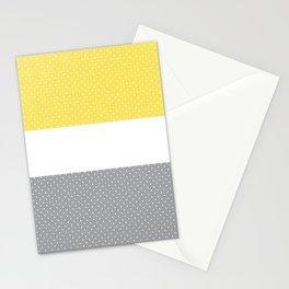 Abstract Pattern Ultimate gray Illuminating Yellow Panton 21 II Stationery Cards