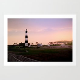 Sunrise at Bodie Lighthouse x Outer Banks Art Print