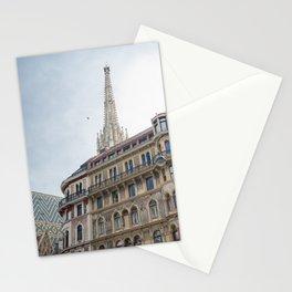 St stephen Cathedral Vienna Austria 2 sky bird Stationery Cards