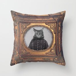 hussard cat Throw Pillow