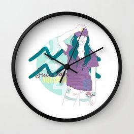 Sullivan - Aquarius Star Sign Wall Clock
