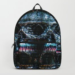 Analogue Glitch Skull Array Backpack