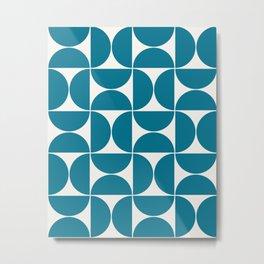 Modern Geometric Seamless Pattern Mid Century VIII Metal Print