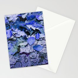 Leaves and bark in blue - the little beauties of nature Stationery Cards
