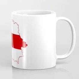 Flag Map of Belarus, 1918, 1991-1995 Coffee Mug